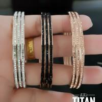 titanium gelang wanita lapis 24k 538d