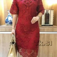Dress brokat Bangkok premium