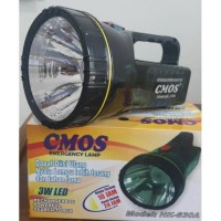 Lampu Senter CMOS HK-630A / Emergency Lamp / Rechargeable