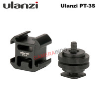 Ulanzi PT-3S Triple Hot Cold Shoe Mount Adapter for Mic LED Flash