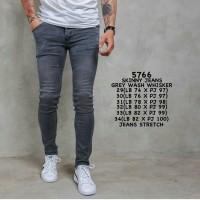 Celana Jeans Skinny P&B Premium Grey Whisker