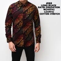 Kemeja Lengan Panjang Pria Motif Batik Gradation