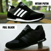 Sepatu Adidas Neo City Racer Full Black Hitam / kets casual sekolah