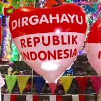 Balon Foil Bentuk Love Dirgahayu RI