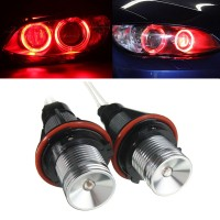 Pair Red Angel Eyes LED Lights Ring Marker Xenon HID for BMW E39 E60 5