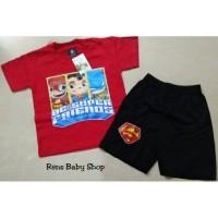 Setelan baju celana superhero anak 2 - 3 tahun