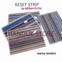 Keset handuk HSH motif strip garis garis 40x60 - Warna Random