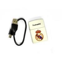 KOREK API USB REALMADRID MADRID 2133-2 ELEKTRIK CAS CHARGER LIGHTER