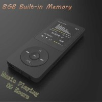HiFi DAP MP3 Player LCD E-Book FM Radio Clock 8GB - F8 - Black