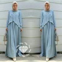 Gamis Bian Jumbo Maxi Dress Syari Muslimah Big Size Model Terkini