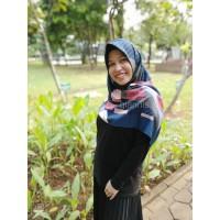 Jilbab Umama Silk Motif - Stripe Kerudung Segiempat