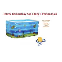 INTIME Kolam Baby Spa Kotak 4 Ring | Pool Renang Anak Bayi + Pompa