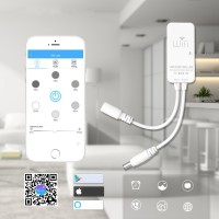 LED Strip DC9-24V 6A WiFi Timing Smart Dimmer Controller Work With