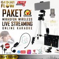 Paket Mic Microphone Wireless Live Streaming Online Karaoke BIGO