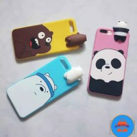 WE BARE BEARS DOLL 3D PEEP CASE IPHONE, Oppo a37 , vivo v5 , y53 , f1s