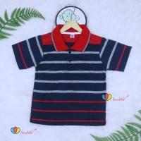 Kerah Salur T-Shirt Anak Laki uk 3-5 Tahun / Kaos Atasan Baju Murah