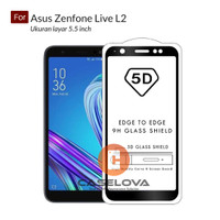 Full Cover Tempered Glass Warna 5D / 6D / 9D Asus Zenfone Live L2
