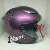 Helm kyt galaxy slide solid deep purple / ungu size m