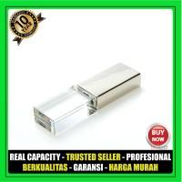 Souvenir Flashdisk Promosi Crystal 8 GB cetak Grafir logo box pp case
