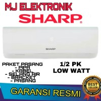 AC SHARP 1/2 PK LOW WATT 5UCY paket pasang