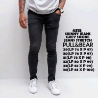 Celana Jeans Skinny Pria Premium Grey Smoke