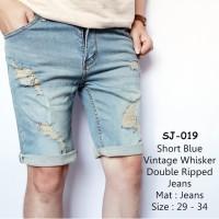 Celana Jeans Casual Pendek Ripped Premium