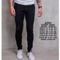 Celana Jeans Skinny Pria Premium Black Simple