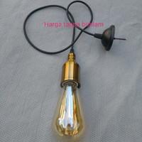fiting lampu gantung botol  kop kabel tanpa bohlam edison filament