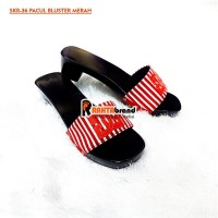 SKR36 Sandal wanita kelom geulis model pacul kokop bluster