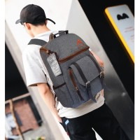 Tas Korea MG06 Tas Ransel Korea Tas Pria/Wanita Tas Backpack - Grey