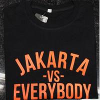 Kaos Baju Obral Combed 30S Distro PERSiJA JAKARTA VS EVERYBODY polos