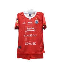 Setelan Jersey Team persija Kaos Anak baju bola anak simic merah