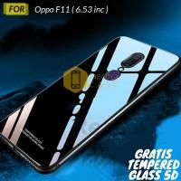 Oppo F11 Case Luxury Glass Premium Case GRATIS TEMPERED GLASS