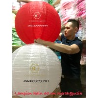 Lampion kain jumbo outdoor 60 cm merah putih HUT RI 17 agustus