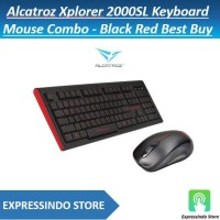 Alcatroz Xplorer 2000SL Keyboard Mouse Combo - Black Red Best Buy