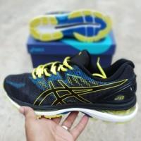 sepatu Asics Gel Nimbus 20 Blue Yellow Black / Volly Voli