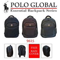 TAS RANSEL PRIA / BACKPACK / TAS LAPTOP POLO GLOBAL ORIGINAL 9615