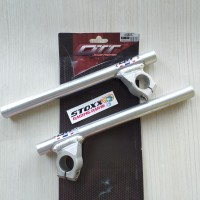 STANG JEPIT QTT SATRIA FU SONIC AS 26 MM 15 DERAJAT SILVER stang drag