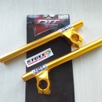 STANG JEPIT QTT SATRIA FU SONIC AS 26 MM 15 DERAJAT GOLD stang drag