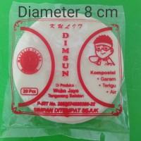 Kulit Dinsum pangsit bulat diameter 8,5cm isi 20pcs Halal
