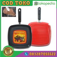 CT-634 Square Grill Supra / Frypan Kotak / Penggorengan Segi 27 Cm