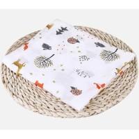 Bedong Katun Selimut Bayi Muslin Swaddle Blanket Bambu - Fox Tree