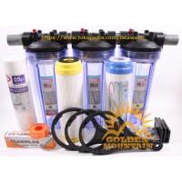 Paket Filter Air Sumur Bor / Saringan Air Zat Besi / SAFE 3 (Clear 10