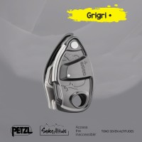 GRIGRI Petzl Belay device with assisted braking and anti panic handle