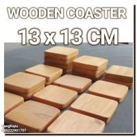 Wooden Coasters 13x13x1cm Tatakan kayu tatakan gelas piring cangkir