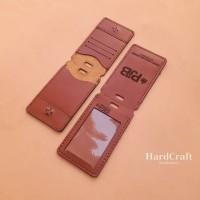 Id Card Lipat Magnet Name Tag Kulit