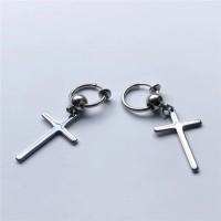 anting salib palsu-tanpa tusuk-anting magnet salib