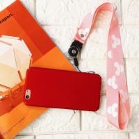 Gantungan HP / Kartu / ID Card Handphone Strap Lanyard Mickey Mouse - Hitam