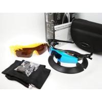 Kacamata sepeda Radar Lock hitam biru 5 lensa - sunglasses Kacamata-KU