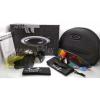 Kacamata sepeda Radar Ev hitam 5 lensa full set - sunglasses